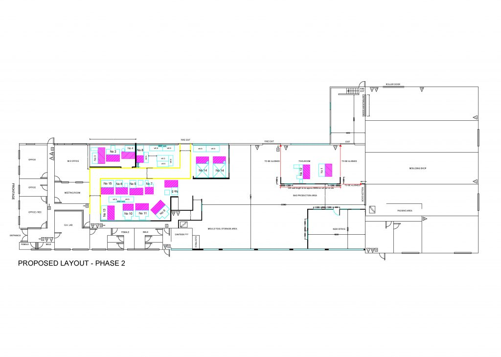 Factory and office remodelling and concept design - Horsham manufacturing sector-5
