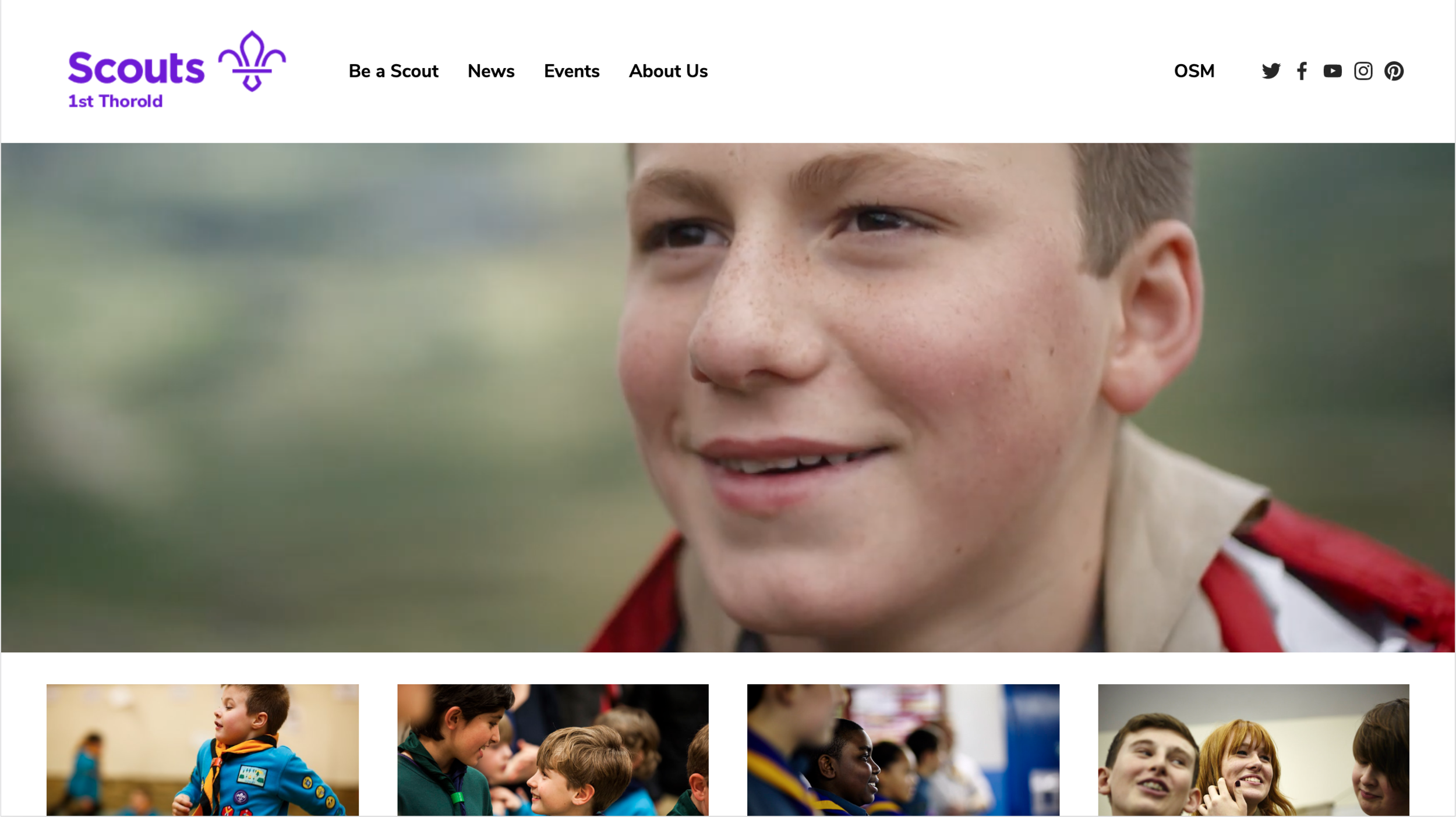 Demonstration - Preview a Scout Group Website