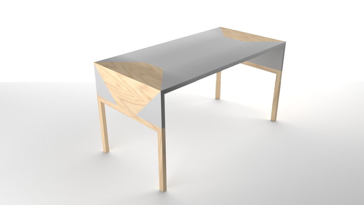 Table de bureau blanche 1