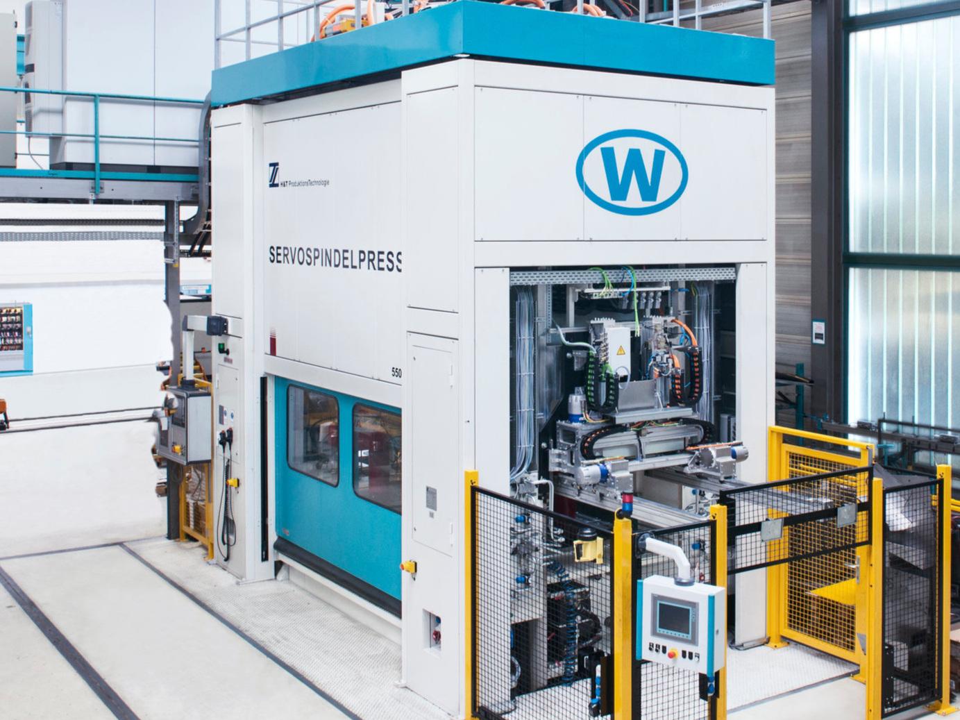 ServoSpindelPresse gebaut von unserem Schwesterunternehmen H&T ProduktionsTechnologie