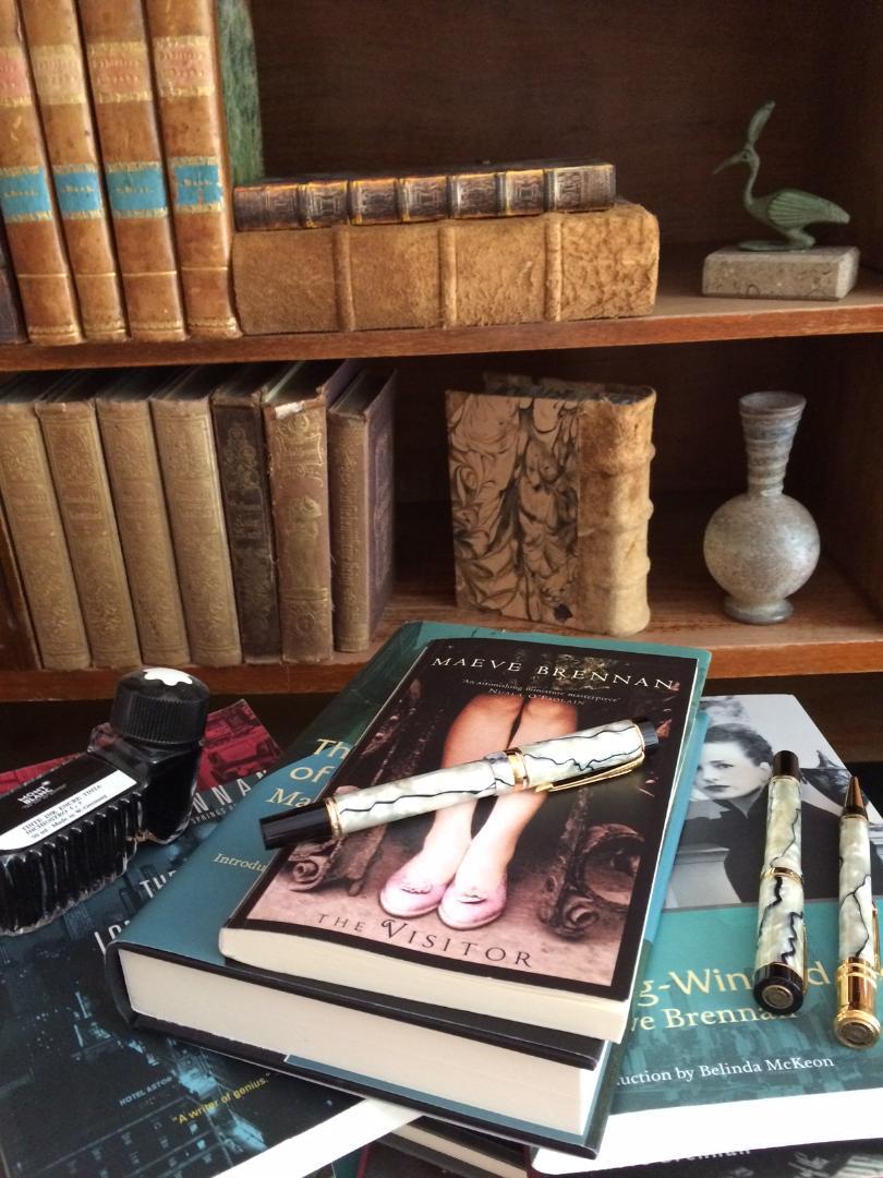 Maeve Brennan books on desk