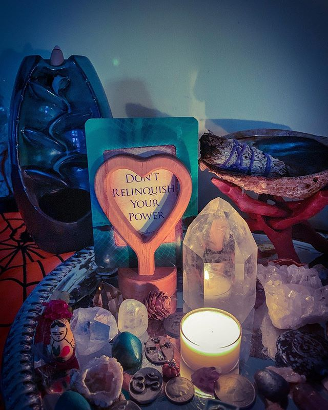 Universe Card Pull Readings are now offered. 🙏🏻 Card pull readings are performed in the morning and are accompanied by a burning white tealight and incense for positive energy. To participate, you do not have to disclose your question/issue, unless you choose to via e-mail to me. If so, please use the message section on my site and include your order number.  I will cleanse the deck with a clear quartz crystal and prayer in your name, shuffle it, and pull a card for you. The card will be placed on my non-denominational sacred altar and will stay until the tealight goes out. You will receive a picture and short explanation of your card.  Many blessings for love, health, and happiness! *Readings are performed as curio only and are not meant to diagnose or treat medical conditions.