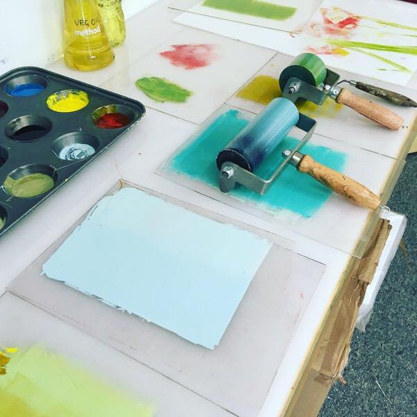 Preparing the printing inks