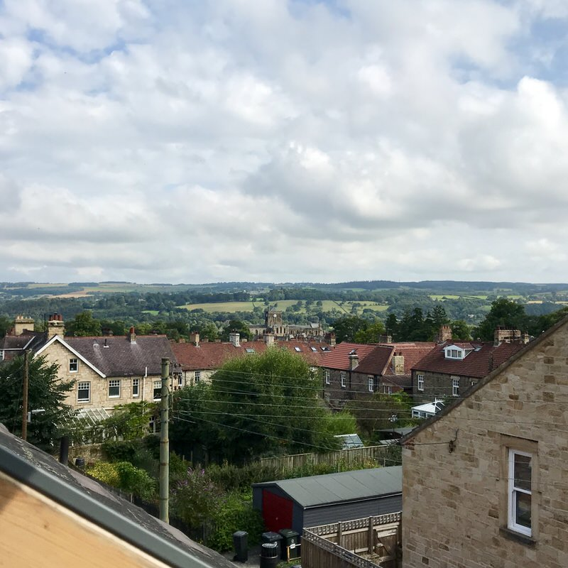 View over Hexham from the attic room window