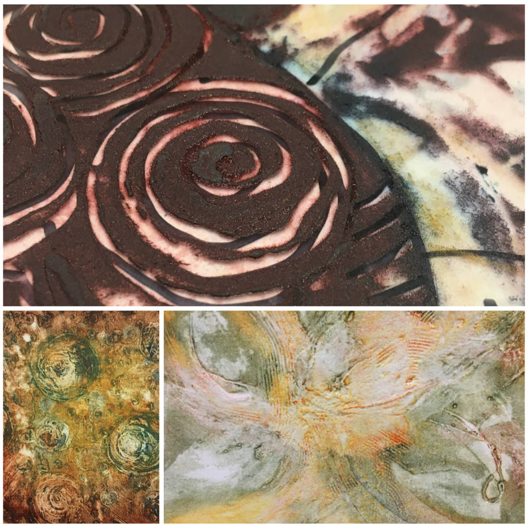 PAINTING WITH PRINTMAKING – TAKE TWO - DATE: 31st August & 1st September 2019TIME: 10am to 4pmLOCATION: Hexham, NorthumberlandAnother opportunity to explore a painterly approach to collagraph printmaking with multi-plate printing using just carborundum, PVA and paint to make lovely colourful prints.