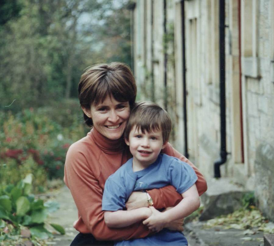 Carol with her young son