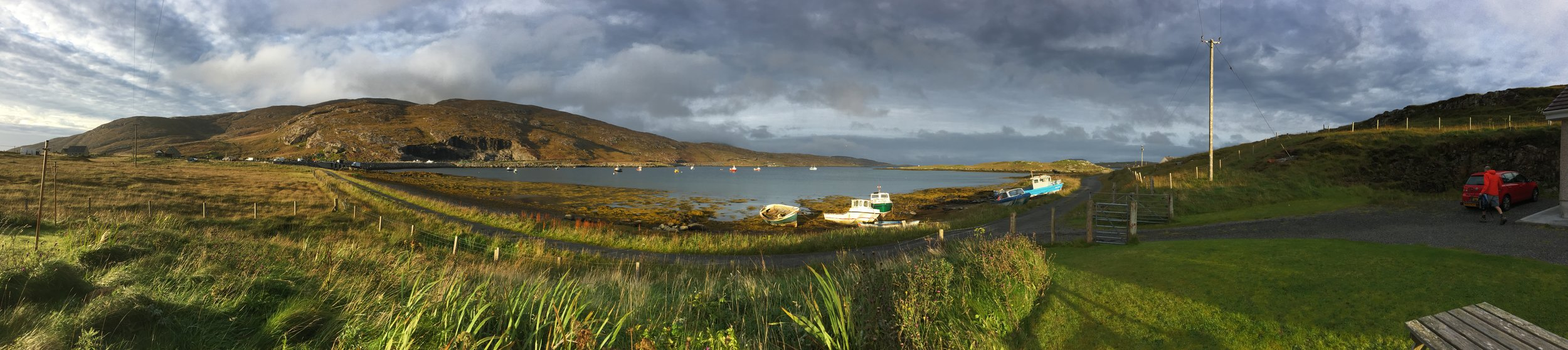 View from the cottage garden on Vatersay