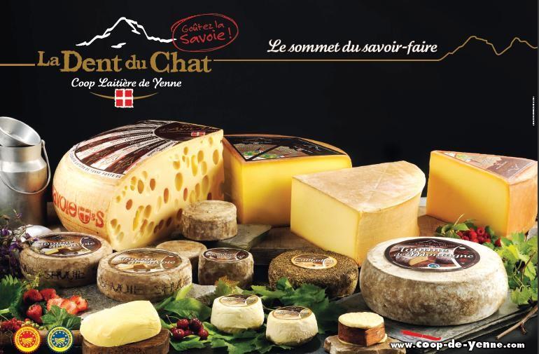Faites le plein de fromages à la Coopérative Laitière de Yenne (mentions spéciales pour la Dent du Chat et la tomme de Yenne)