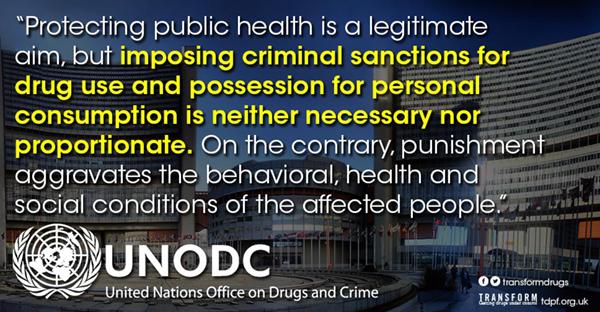 UNODC om avkriminalisering
