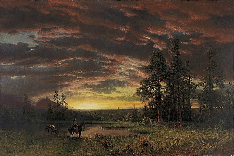 Life on the frontier meant learning to get by with less. Building a market wallet can teach you how to do just that. Image via wikicommons: https://commons.wikimedia.org/wiki/Albert_Bierstadt#/media/File:Bierstadt_Albert_Evening_on_the_Prairie.jpg