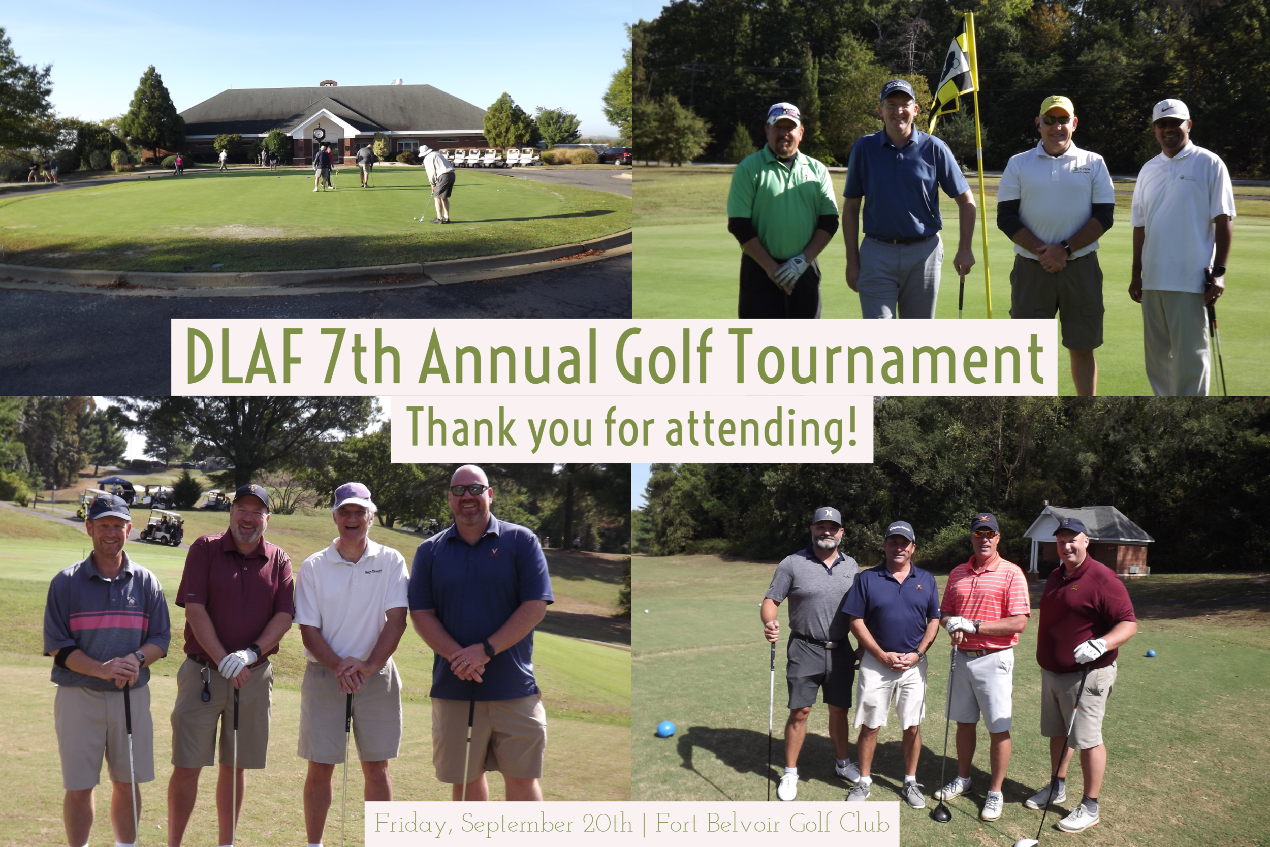 Thank you for attending the 7th Annual Golf Tournament!