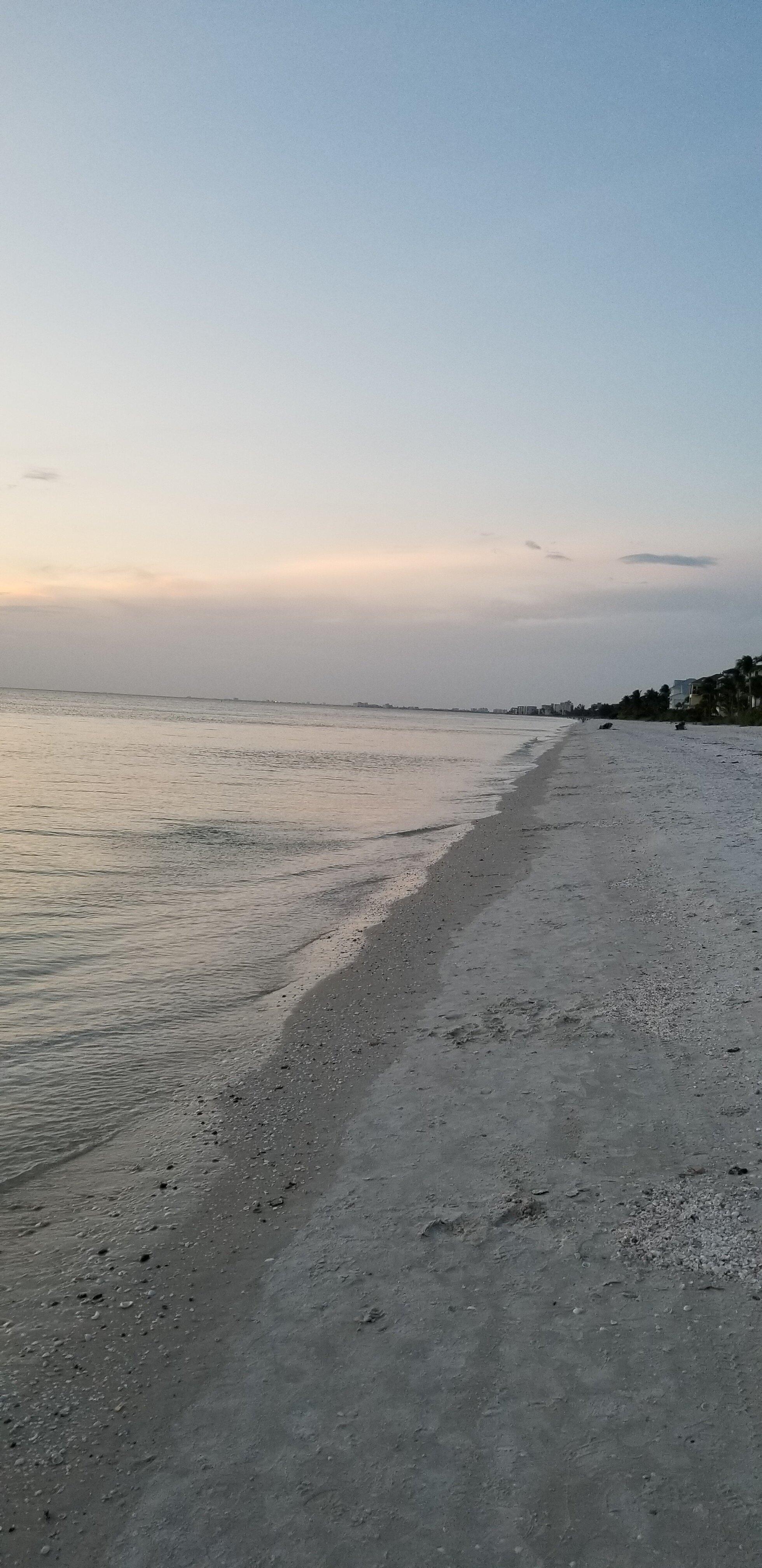 Just after sunset, Barefoot Beach