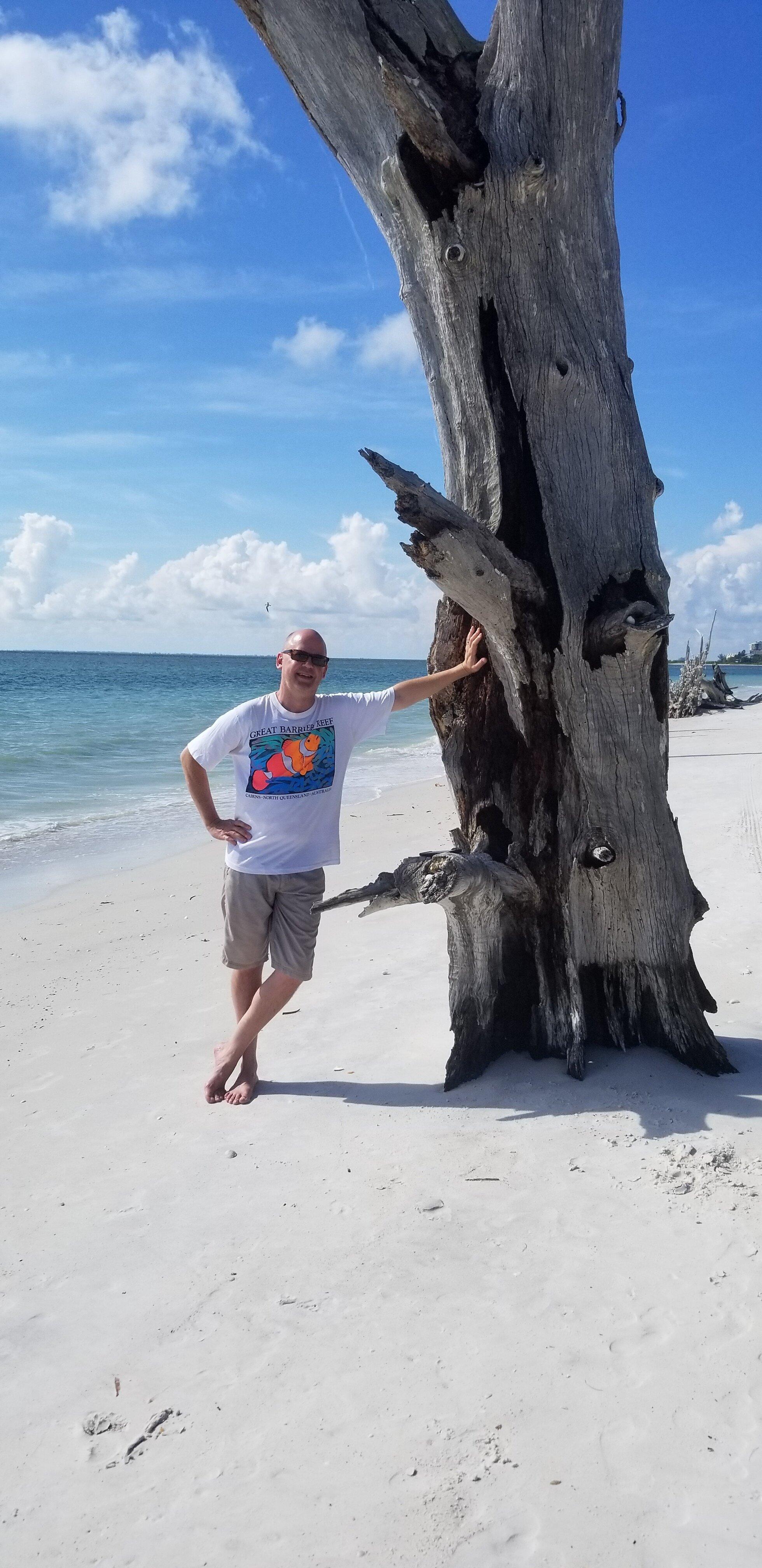 Oh hey, beachy Karl. Lover's Key State Park