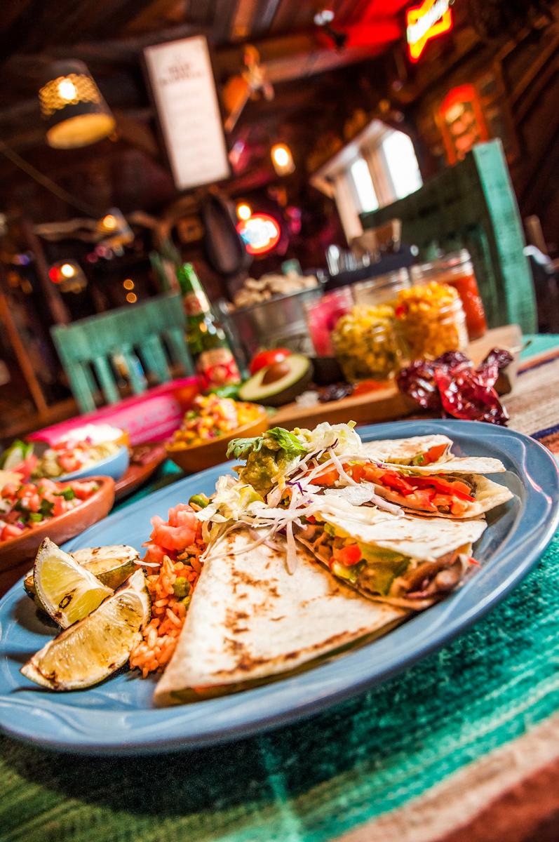 Quesadilla at Banff Restaurant