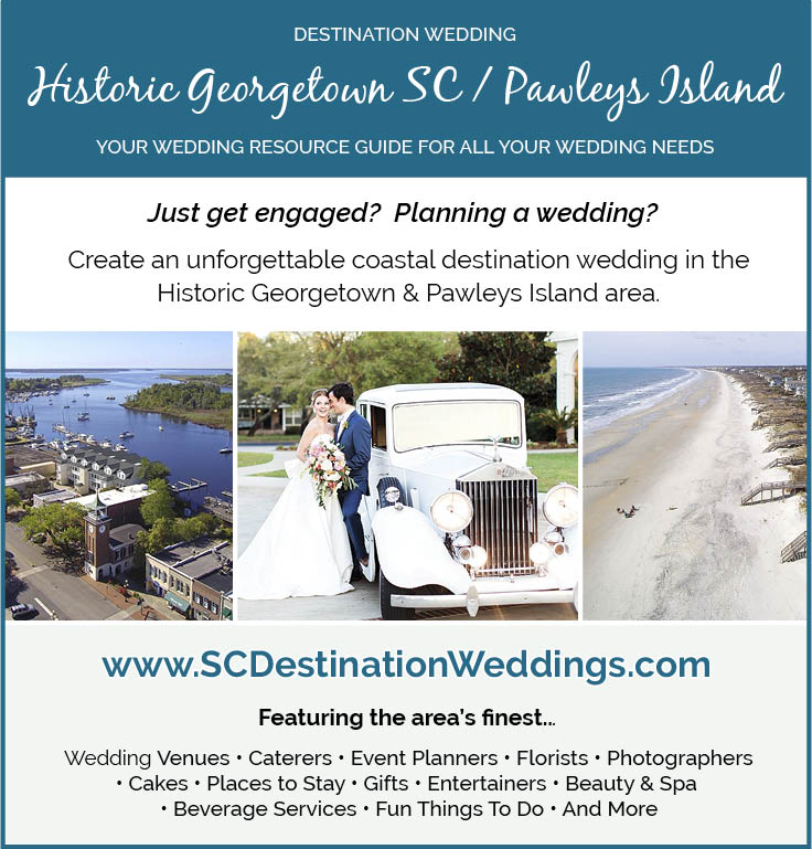 Destination Wedding Guide for Pawleys Island and Georgetown SC