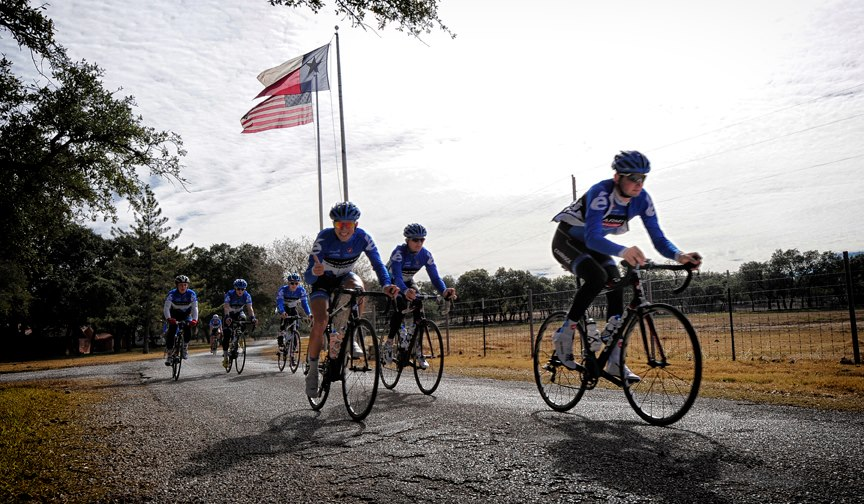 [right] The best team camps happen at the Williams Racing Academy in Wimberley. - 2013