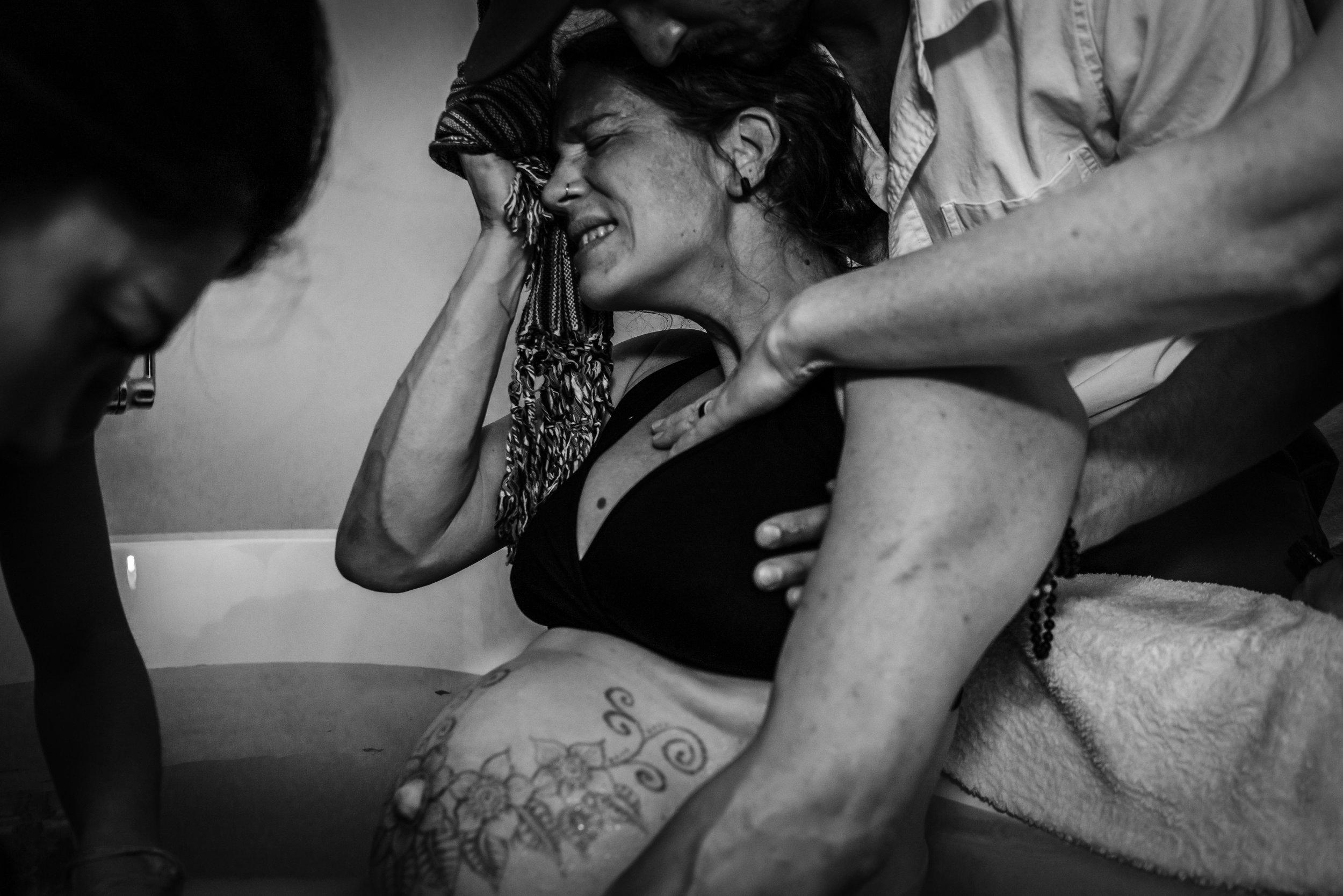Pushing Labor Birth Water Birth Center