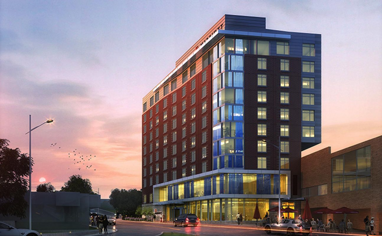 Ithaca Marriott Downtown - 120 S. Aurora Street(607) 379-6608Recommended to those that are not driving to Cornell due to the proximity to the campus and the availability of public transportation.