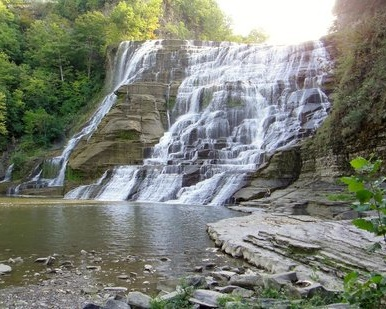 Ithaca Falls - This 150-foot cascading waterfall is the final plunge before Fall Creek empties into Cayuga Lake. Ithaca Falls is the perfect spot to have a picnic, read a book, take your dog on a hike, or just enjoy the wonders of nature.