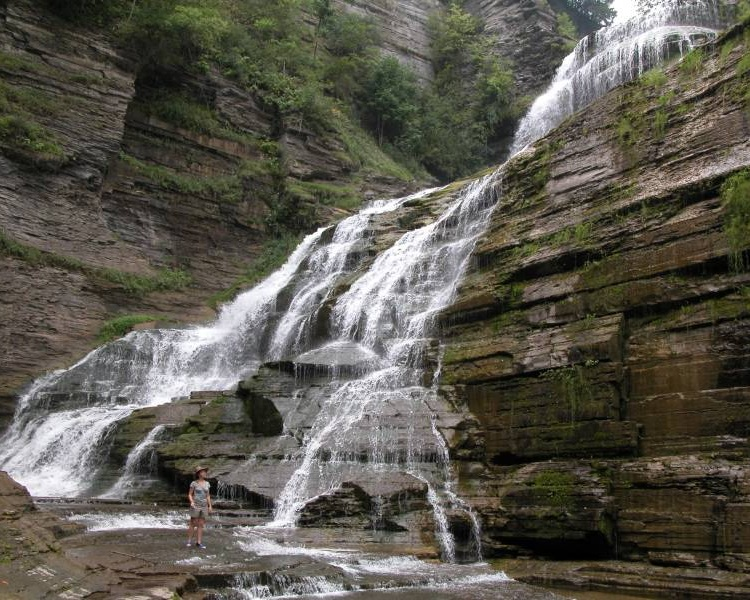 Lucifer Falls - At 115 feet tall, Lucifer falls is mighty impressive and located in one of the most scenic state parks in the region, Robert H. Treman State Park. This park also features a swimming hole and 6 hiking trails that wind between magnificent gorges.