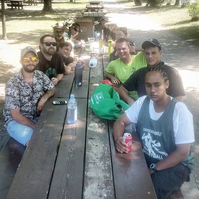 "The gang completely crushed some bbq ribs today after another morning ""toiling in the fields."" Well earned lads (and lass). 👍 #ottawa #ottawalife #staffparty #613 #yow #myottawa #bbq #summer #gng #hardwork #dailygrind #landscaping #lawncare #crew #picnic #businesslunch"