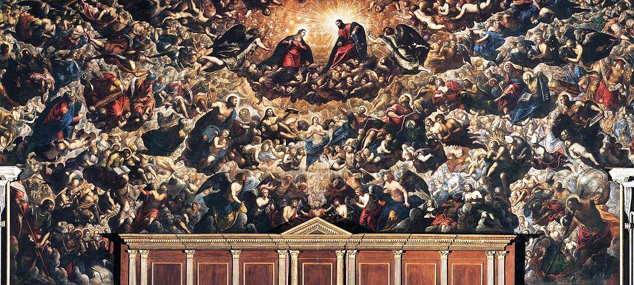 Tintoretto,  Il Paradiso . 1588. Fresco, Doge's Palace, Venice.
