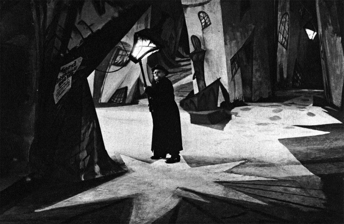 """""""The Cabinet of Dr. Caligari"""" (1920). The frame isn't the only thing tilted."""
