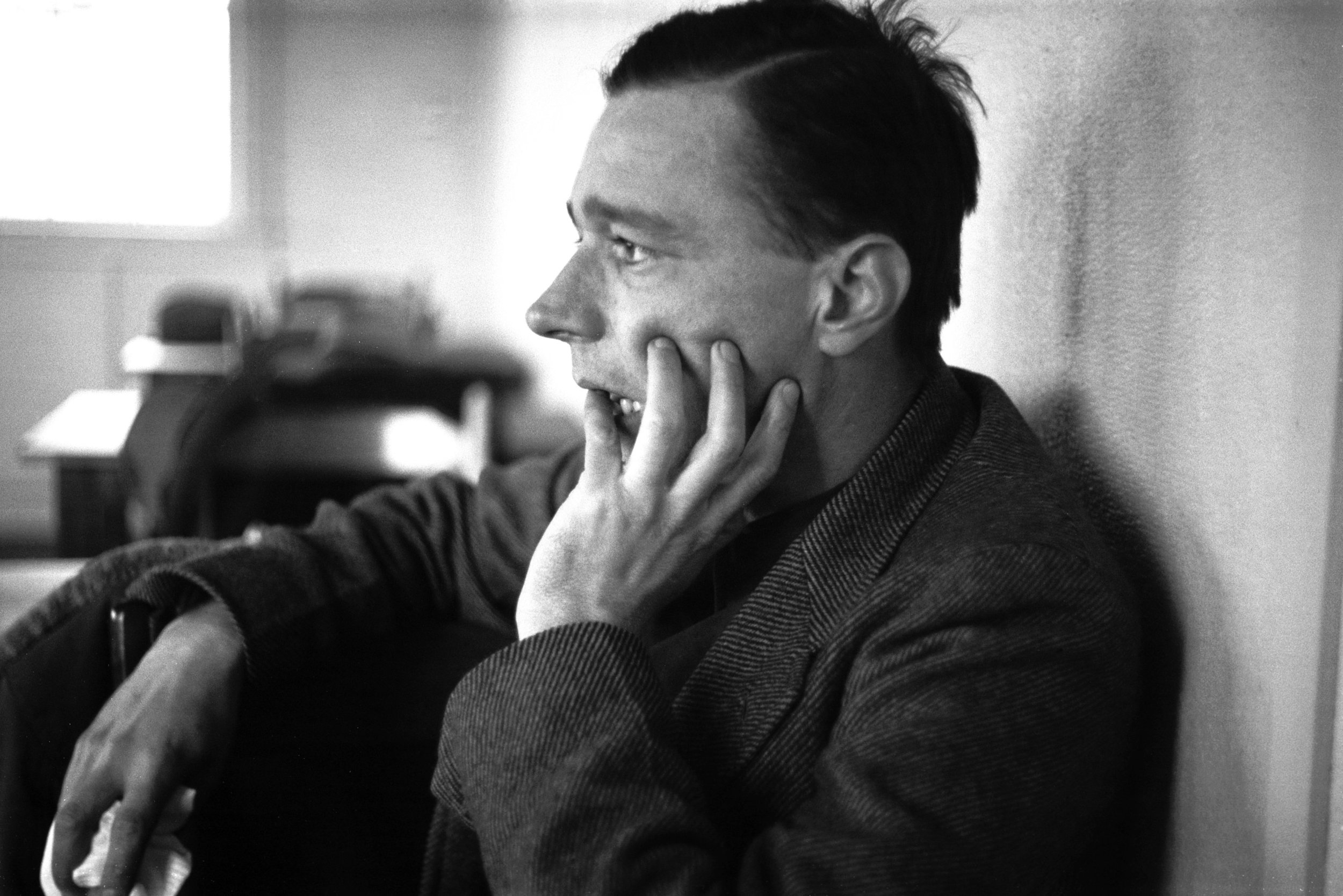 Walker Evans in 1937, in a photograph by Edwin Locke.