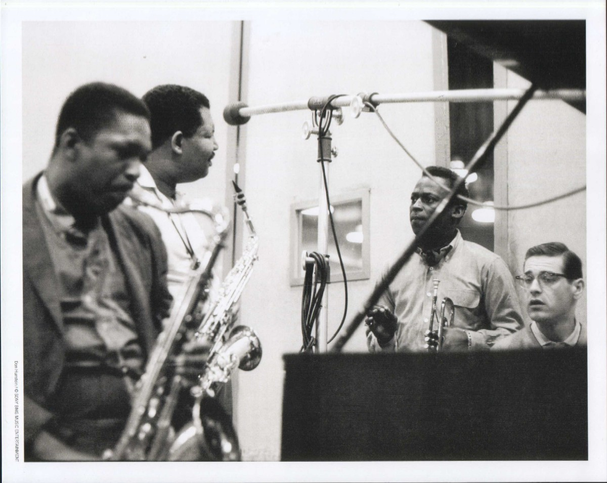 """Still from the recording sessions for Miles Davis's album """"Kind of Blue."""""""