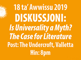 The moderator of this event will be David Aloisio. The panel members are four of the invited authors:  Antoine Cassar ,  Eric Ngalle Charles ,  Habib Tengour  and  Loranne Vella .