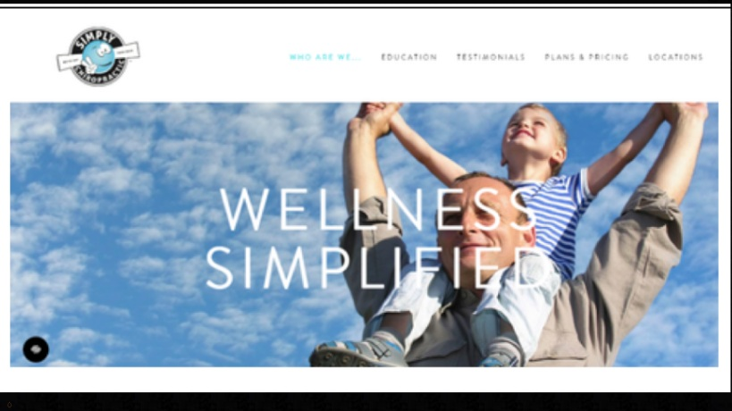 Squarespace website Simply Chiro