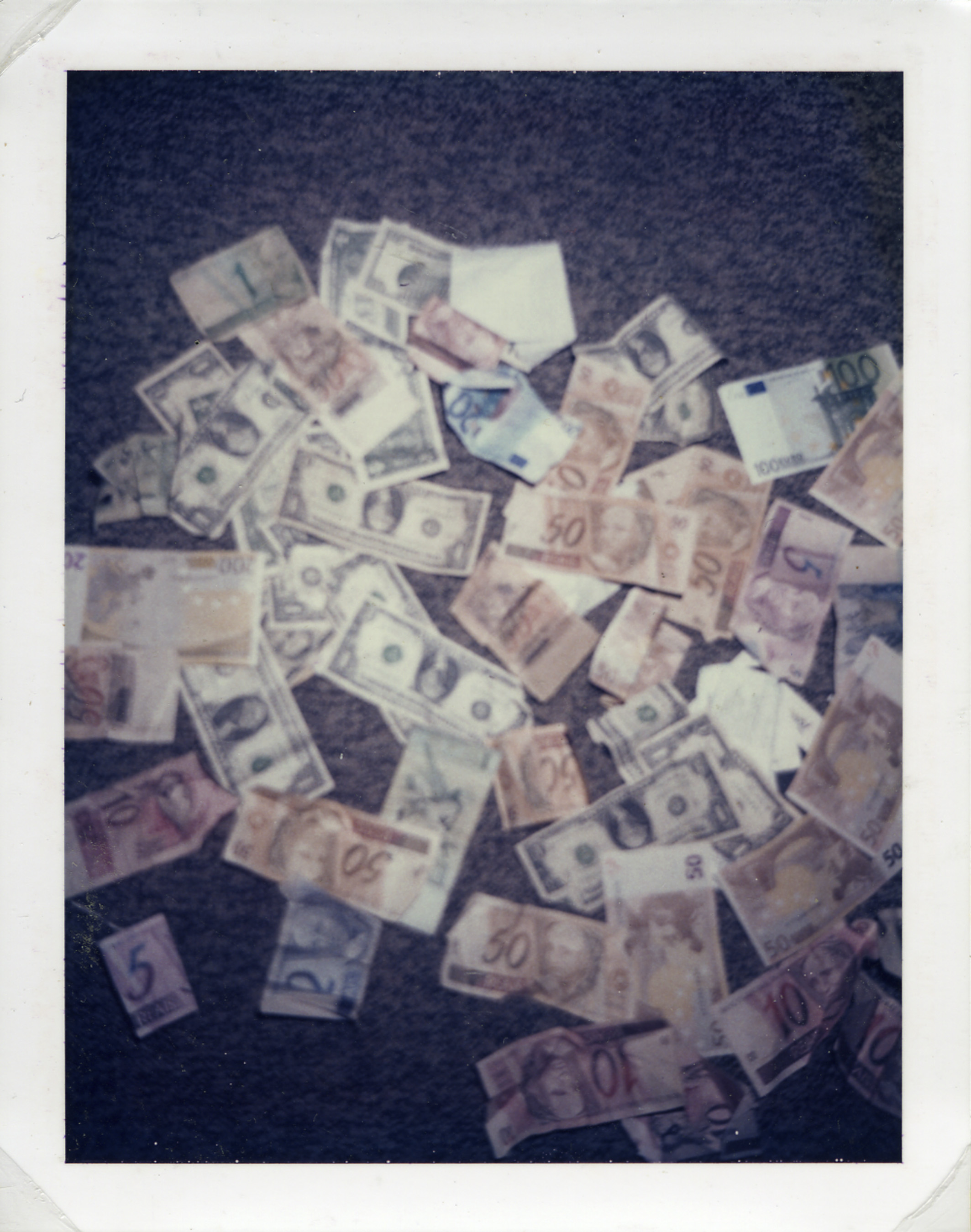Money on floor, 2003