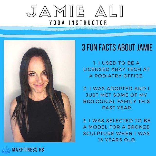 💙 MEET MAX FITNESS 💙 Meet Jamie Ali, a very special team member at Max.  Jamie has almost as much experience as she has personality, which means she has a ton! From Yogalates to Boot Camp, Spin and Yoga Sculpt she loves to push people in her class and they love her right back for it!  Come try out one of Jamie's classes, you won't regret it! 😉💪🏽 : : : #ExerciseTime #Trainiac #FitnessJunkie #FitFam #InstaFitness #FitFam #Fitness #Fitspo #Fitporation #FitForLife #FitLifestyle #FitJourney #FitnessForLife #FitGoals #FitInspiration #WorkoutTime #HomeWorkout #WorkoutAtHome #NoShortcuts #HomeFitness #FitTips #FitFun #HandleIt #ExerciseTime #ExerciseForLife #FitnessPartners #FitnessGoal #FitnessGuru  #FitnessBody #FitnessFirst