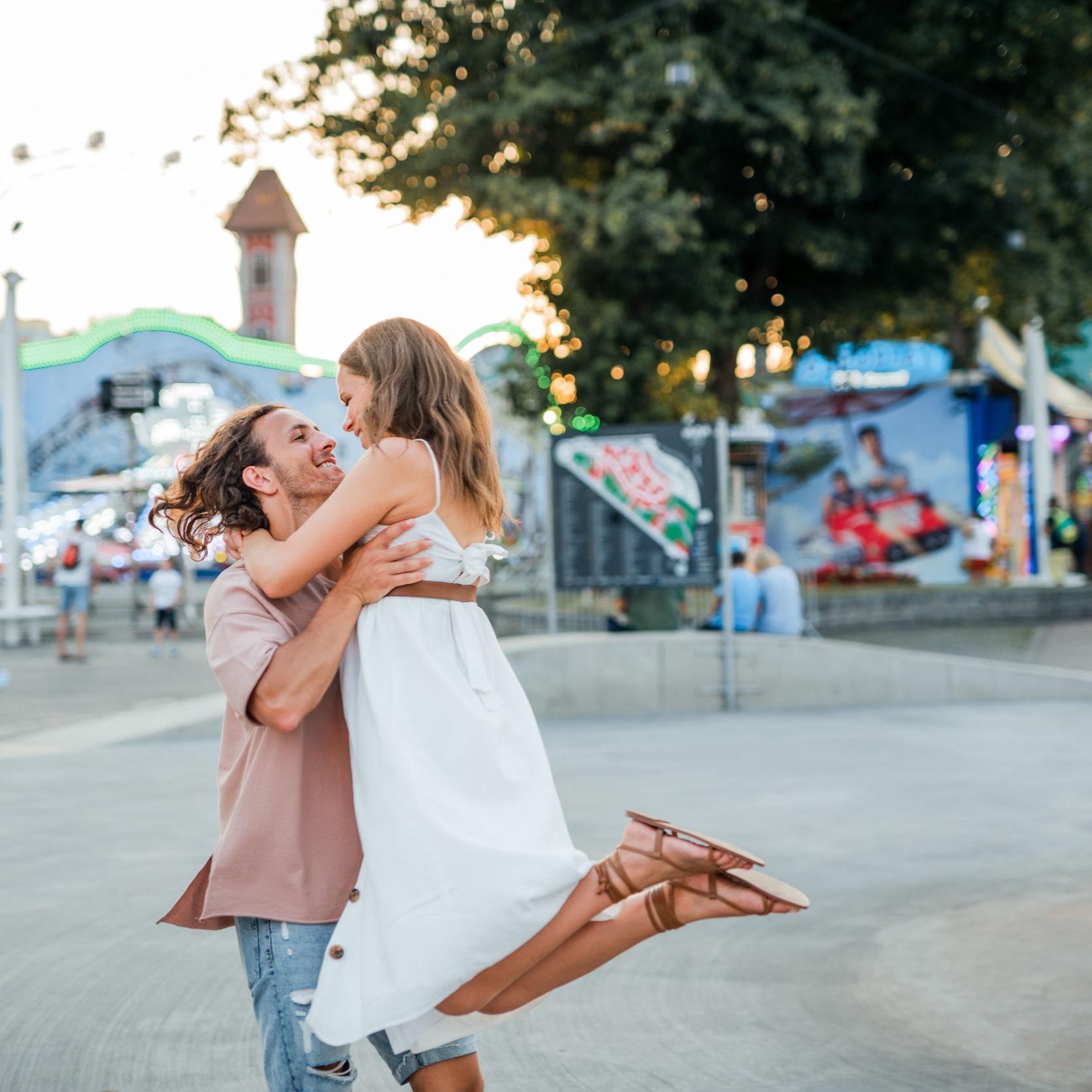 Verlobungsshooting im Prater