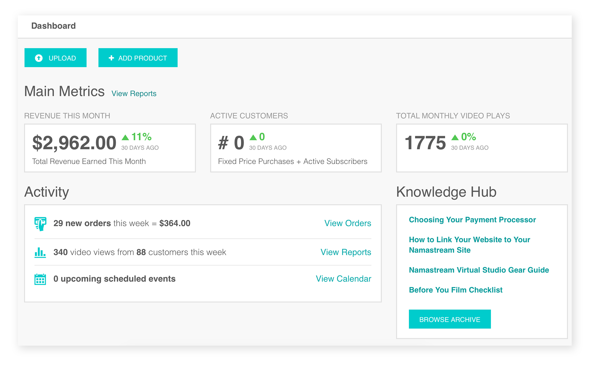 Namastream online teaching platform for wellness entrepreneurs - library preview