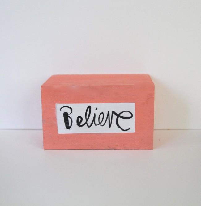 Inspirational words work great on blocks
