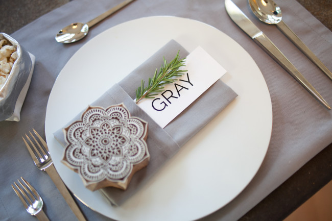 The rosemary & wood block make great party favors.