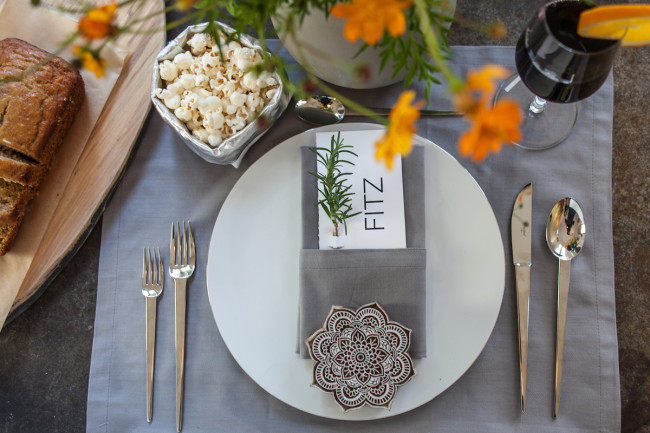 A perfect brunch table setting for New Year's Day