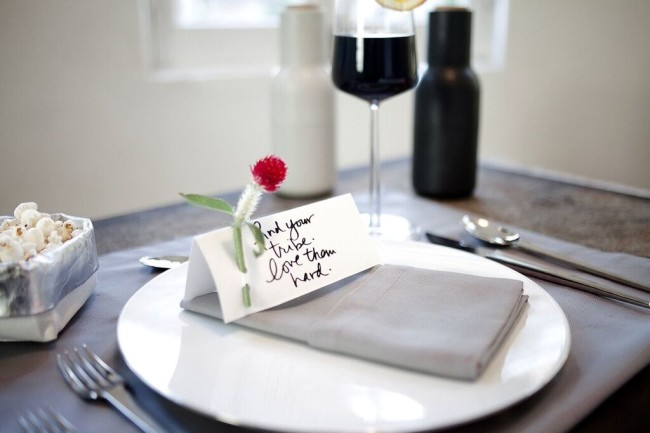 Write an inspiring message to your guests.