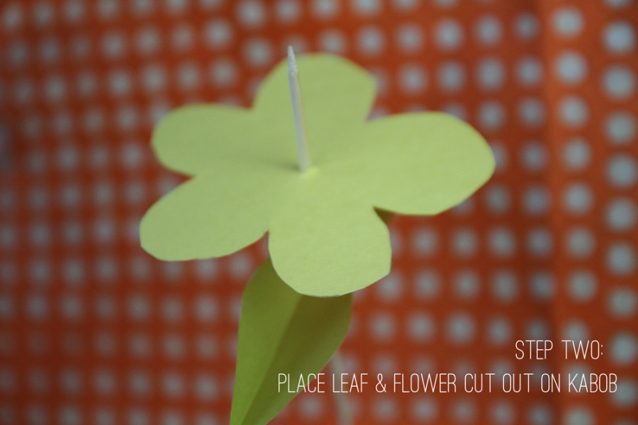 You can make the flower and leaf in many shapes