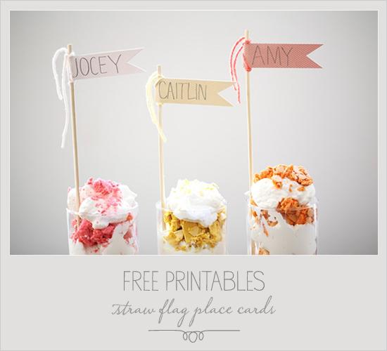 cool free printable flags by WeddingChicks.com