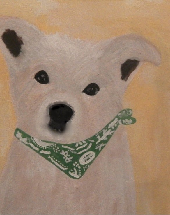 Sample pet art by Annie B. to raise money for Wags 4 Hope