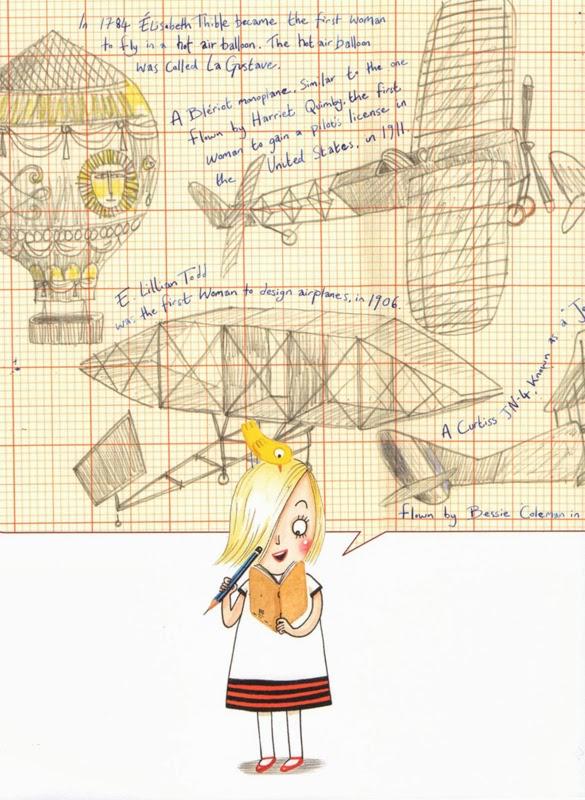 "This is my favorite image from ""Rosie Revere, Engineer"""