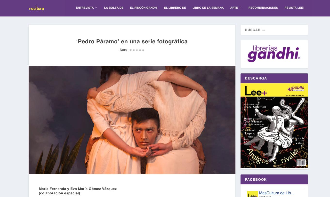 Pedro Páramo en una serie fotográfica