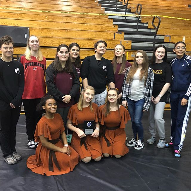 Sanderson got 1st place today at our third competition at Wakefield high school!! Congrats to everyone to preformed today!!
