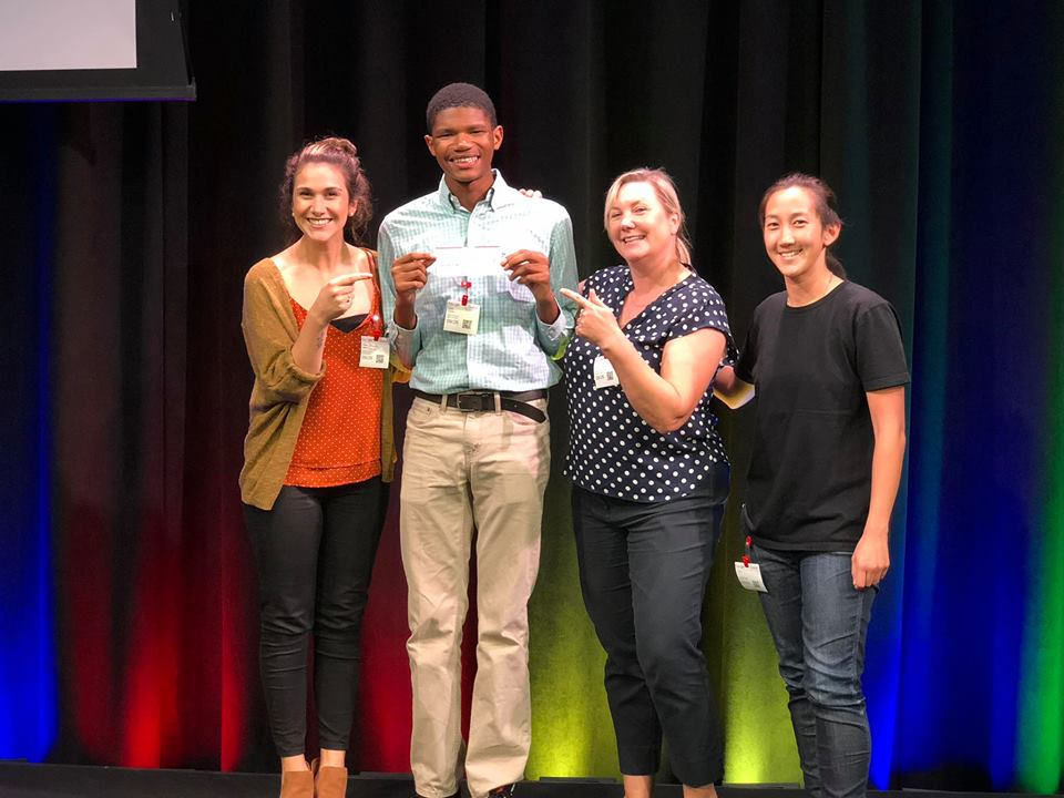 """M2M 2018 """"Youth Homelessness Design Challenge"""" Winner - """"Peace by Piece"""" by Jalen Carter & Elizabeth Gonzales (Youth Participants) Natriya Chuna (College Mentor) & Tiffany Yu (Professional Mentor)"""
