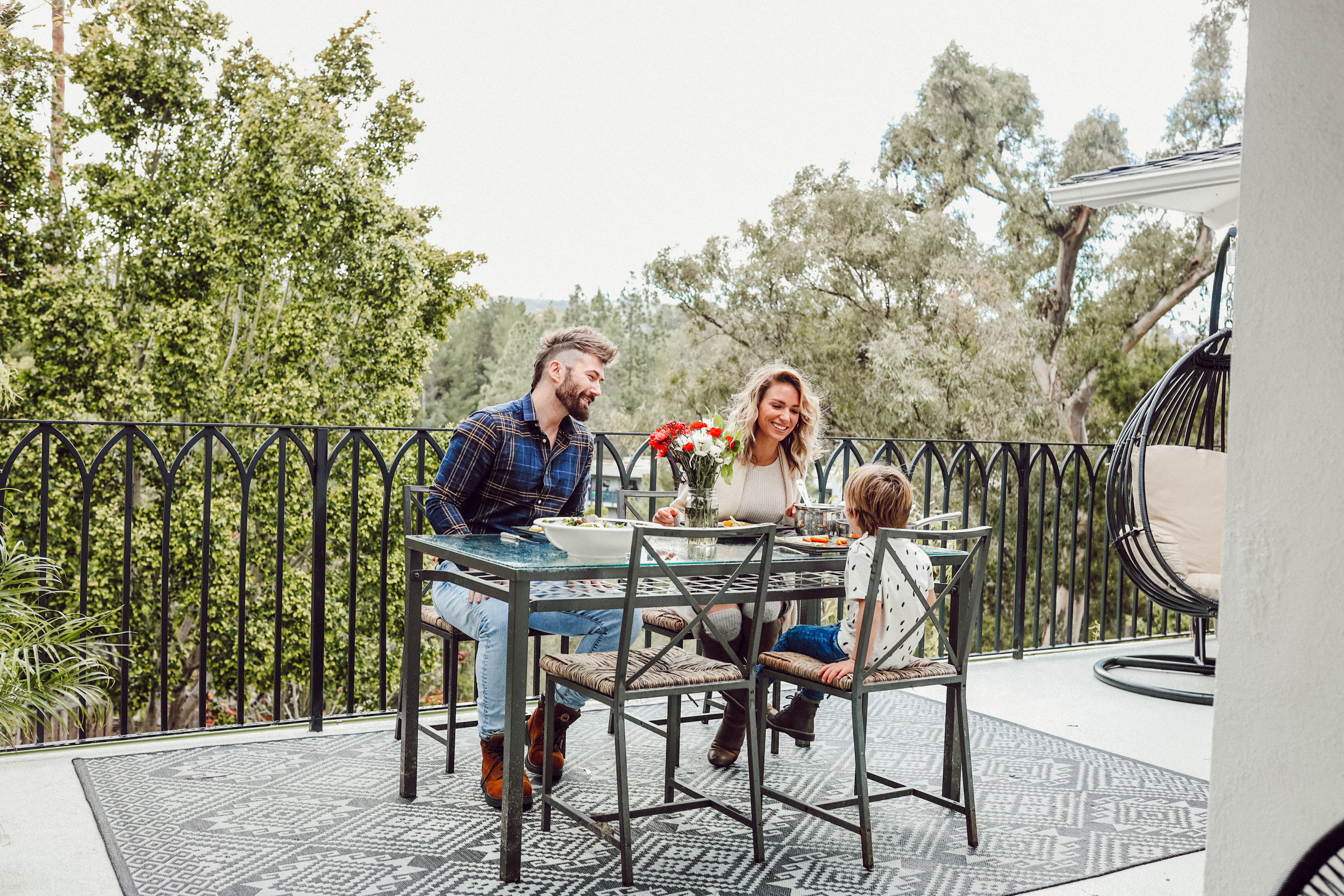 Can you picture your family dining on this beautiful balcony?  Photo cred. Melanie Maroon