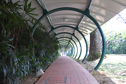 Nanyang Technological University rain shelter