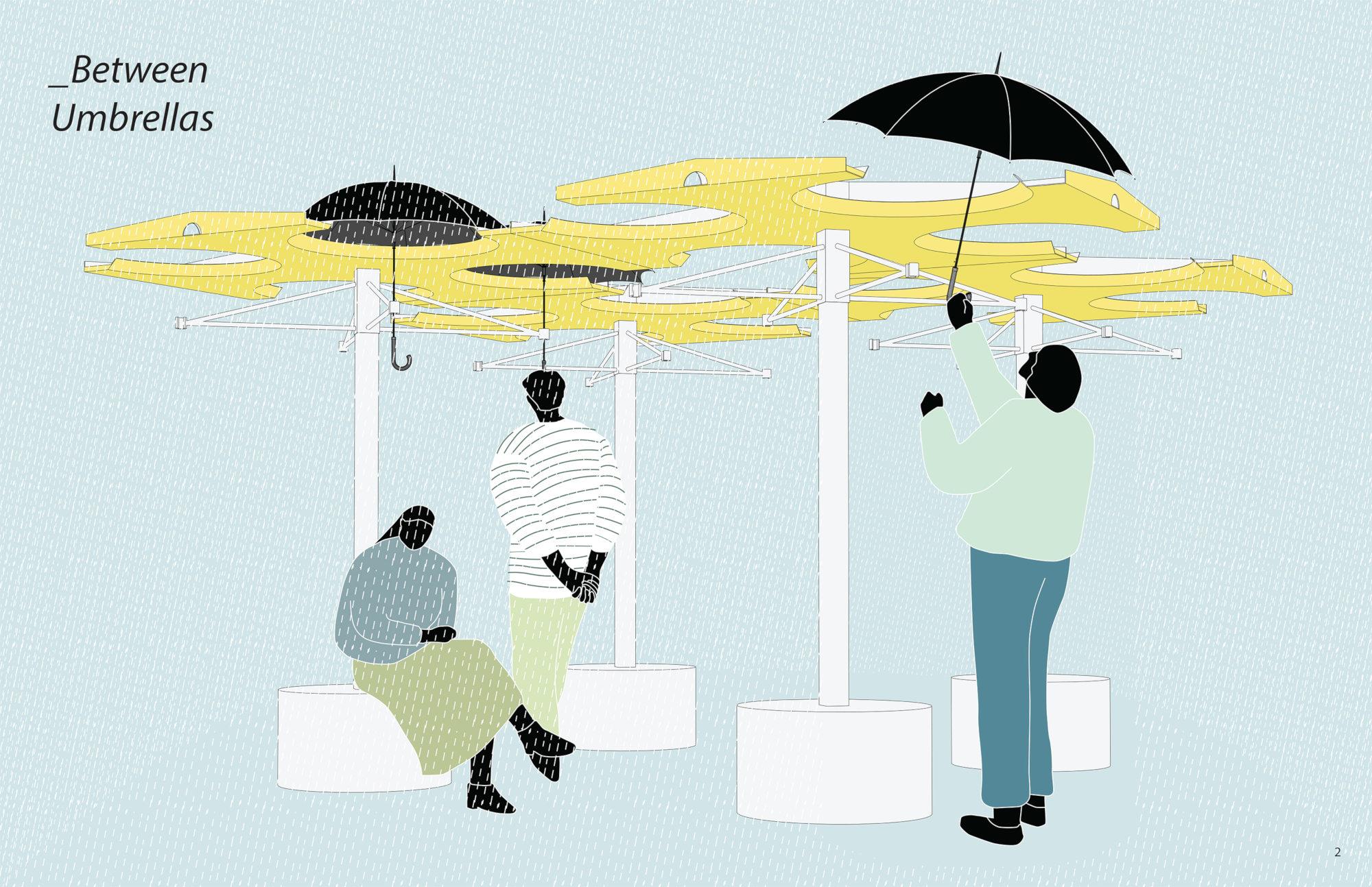 B9 - _Between Umbrellas
