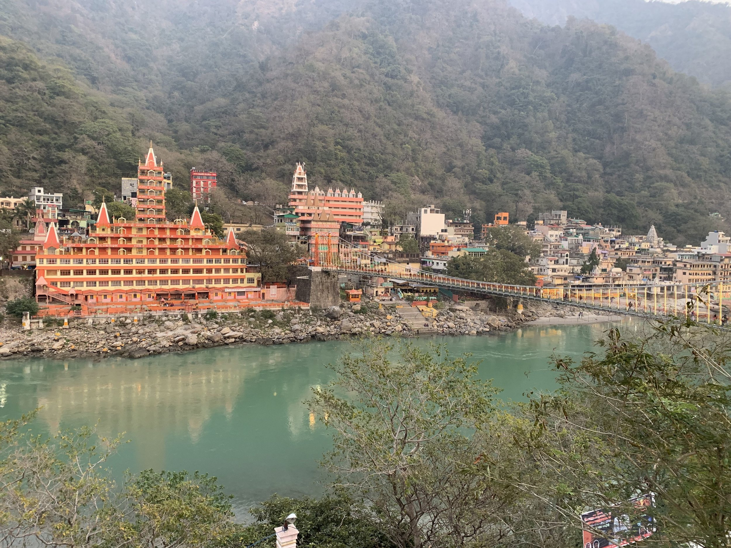 Lakshman Jhula Bridge, Rishikesh - India